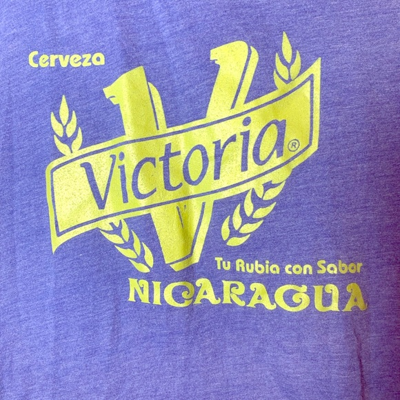 Other - Victoria Cerveza Nicaragua Mens Blue Tank Top XL